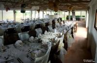 La salle apprêtée pour mariage